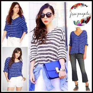 Free People Sweaters - ❗1-HOUR SALE❗FREE PEOPLE Sweater Striped Pullover