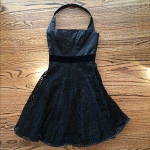 Karen Millen structured a-line halter dress
