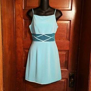 Cache Dresses & Skirts - Cache Sundress Tuquoise sheer midriff Sz 2