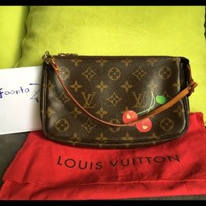 Auth Louis Vuitton Limited Edition Cherry Pouch