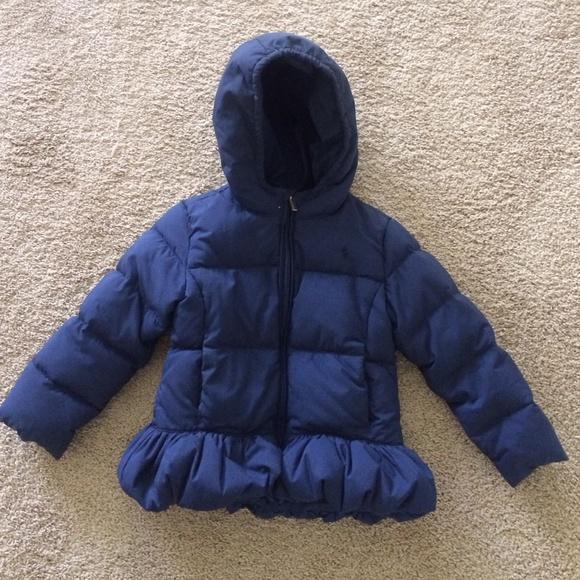 486ab9c6 Girls Kids Ralph Lauren Navy Peplum Coat