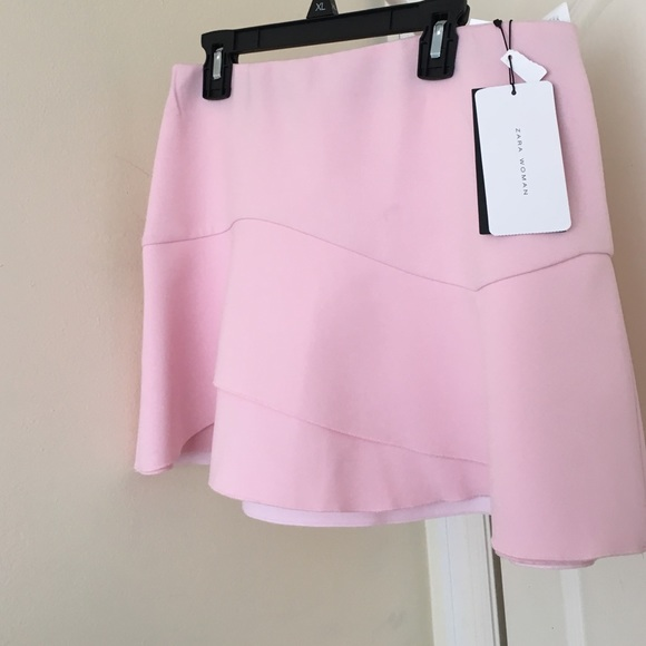 Zara - Zara Pink mini skirt from Ana's closet on Poshmark