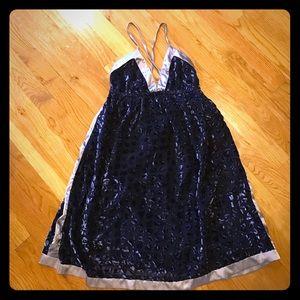 Blue Velvet Burn Out Dress