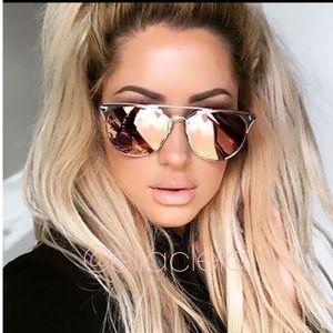 Beautiful Gold Pink Sunglasses