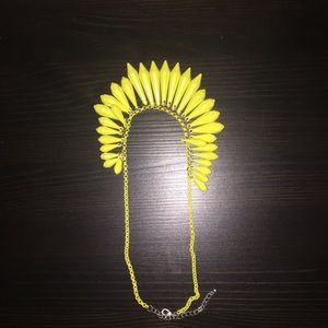 Bright neon yellow necklace