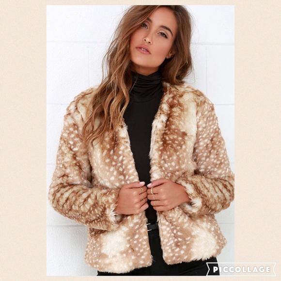 b14873f5f57 NWT Mink pink faux fur oh deer jacket