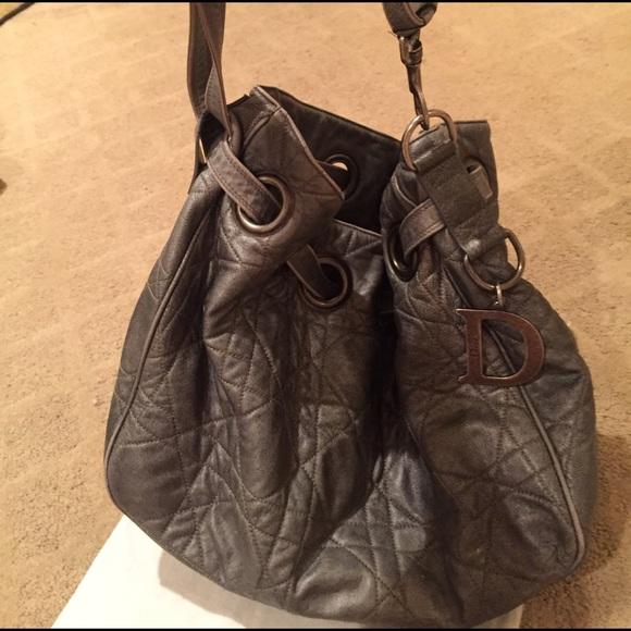 Dior Cannage Drawstring Bucket Bag