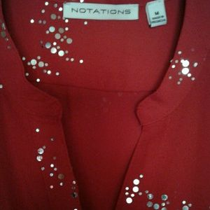 NOTATIONS Sparkly Blouse