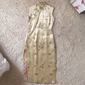 Vintage 100% Chinese Silk Dress