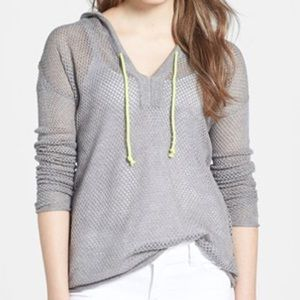 Sweet Romeo Tops - Sweet Romeo Cotton Mesh Hoodie