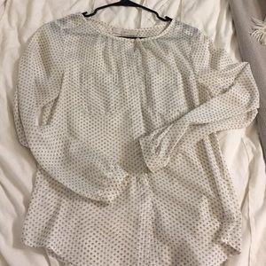 Loft sheer printed blouse
