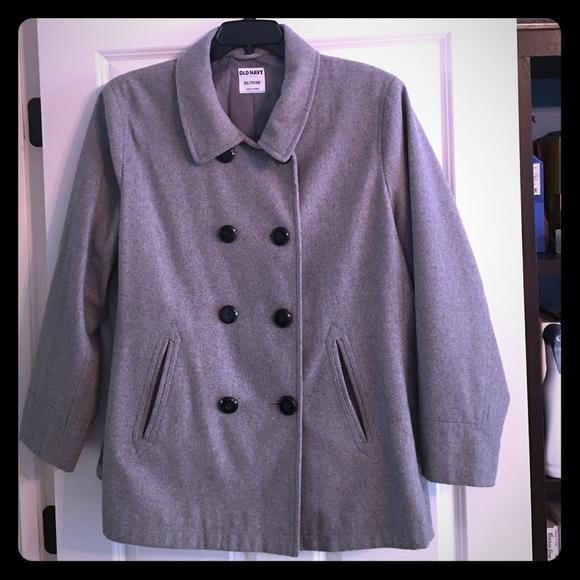 ecc23a7b61cc6 Old Navy Grey XXL pea coat Recycled Wool. M 58125ae07fab3ae78401e05c