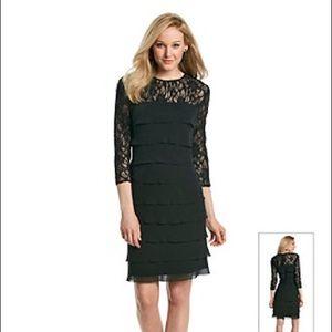 Alex Evenings Dresses & Skirts - Alex Evenings Black sequin-detailed ruffled dress