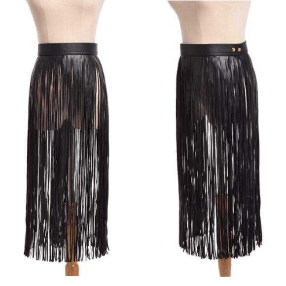 96% off Accessories - Leather Tassel Belt Skirt from Instyle ...