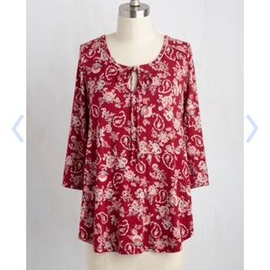 ModCloth Tops - New Modcloth By Tree Leader Paisley top -XS