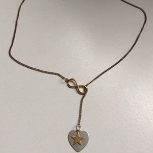 Pacsun Infinity Gold & Silver Heart&Star Necklace