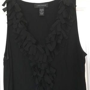 Black 'Confetti' top.