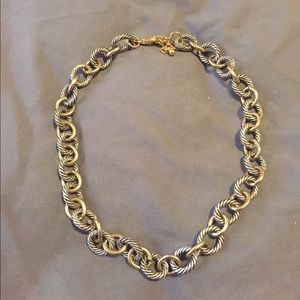 """Jewelry - Vintage gold and silver rope 16"""" length necklace"""