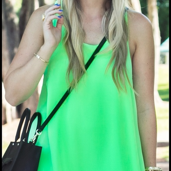 Gabriella Rocha Dresses - Neon Racerback Trapeze Dress