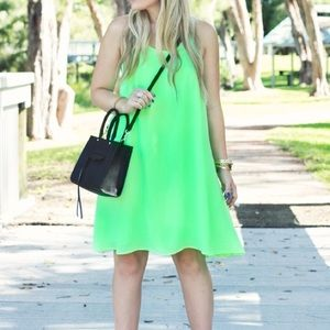 Neon Racerback Trapeze Dress