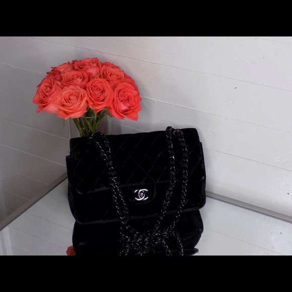 4d74f22dc27a CHANEL Bags   Velvet Classic Flap Bag   Poshmark