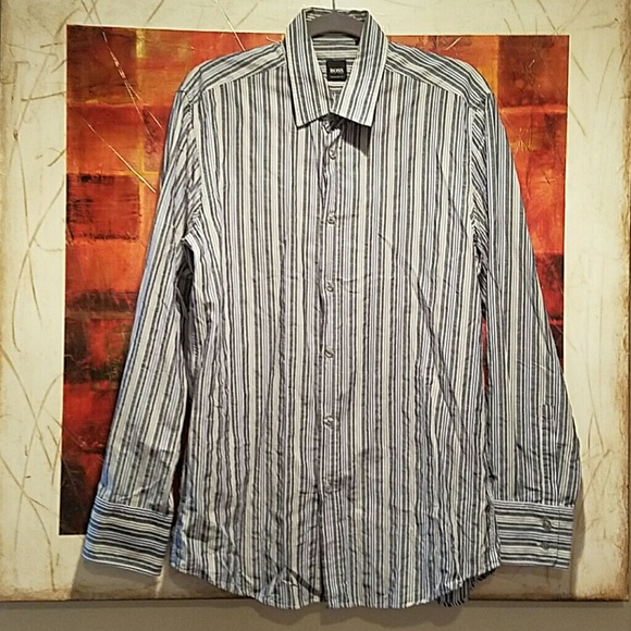 c0857d19 Hugo Boss Other - Hugo Boss Men Striped Shirt/ Regular Fit/ Size L