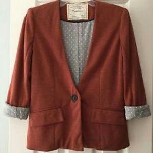 Anthropologie 'Cartonnier' rust color blazer