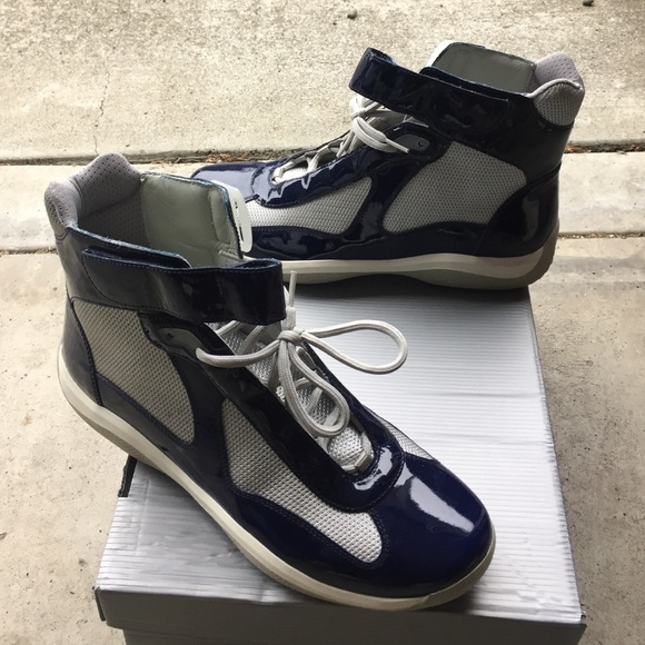 f9feca76 Men's 9.5 ( 10.5 ) us Prada high top sneaker navy