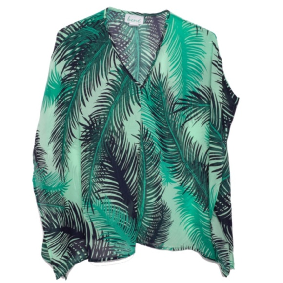 Bené Tops - Bené Palm Leaf Sheer Tunic