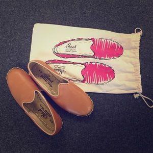 Sabah Tan Leather Slip on