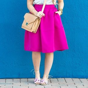 Express Dresses & Skirts - Express Magenta Circle Skirt