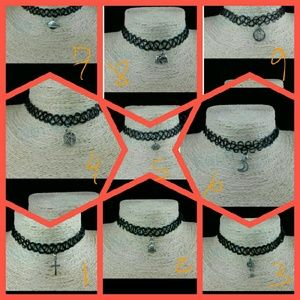 Vintage Stretch Tattoo Choker Necklace Gothic Punk