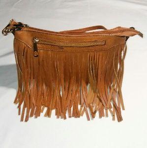 Handbags - Brown Fringe Crossbody Bag