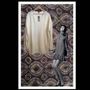 Westbound Woman Winter White Tunic Sweater