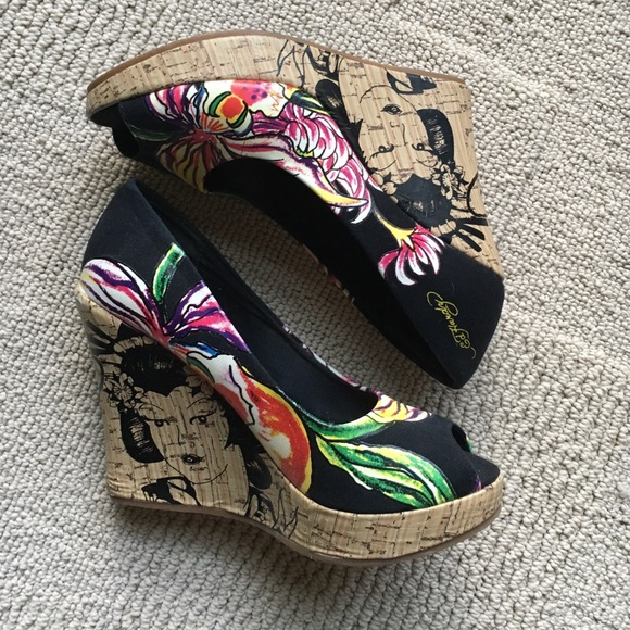 Ed Hardy Shoes Wedge Poshmark
