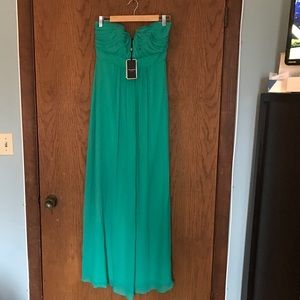 Strapless jade Ted Baker maxi dress