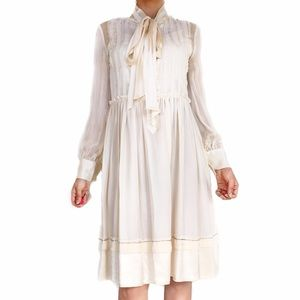 Chloe Dresses & Skirts - Chloe silk ivory dress