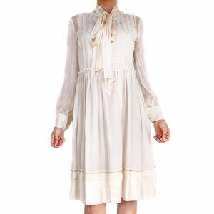 Chloe silk ivory dress