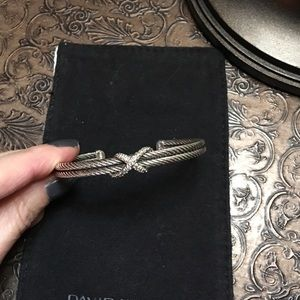 David Yurman Jewelry - Yurman cable bracelet with diamonds
