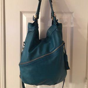 Jessica Simpson Handbags - 🛍 RARE Jessica Simpson Teal Leather Satchel Bag