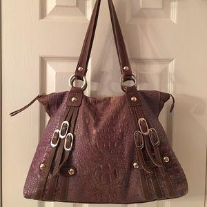 Maurizio Taiuti Handbags - 🛍 Maurizio Taiuti Brown Purple Leather Bag