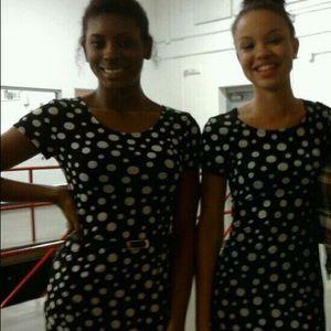 Dresses & Skirts - Black and white polka dot mini dress