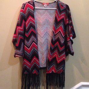 Sweaters - Bohemian cardigan with fringe
