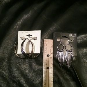 NWT 2 Pair Costume Jewelry Silver Tone Final Price