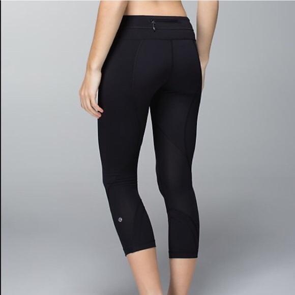 69606ee1e7d4f lululemon athletica Pants | Lulu Lemon Black Capri | Poshmark