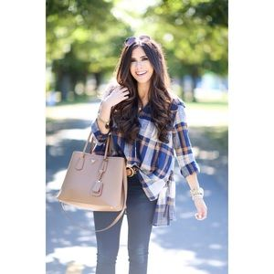NEW Free People 'Peppy in Plaid' Oversized Shirt