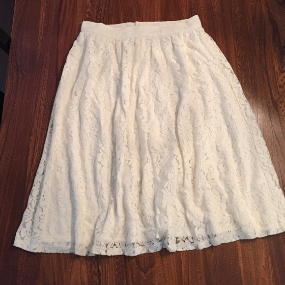 73 h m dresses skirts white lace a line skirt h m