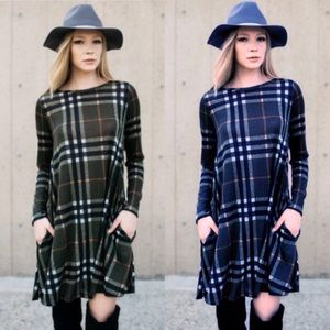 Dresses & Skirts - ❣️LAST❣️ Plaid Fall Dress with Pockets Swing