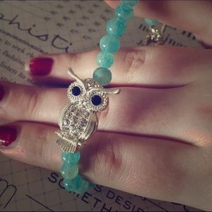 FLASH SALEJasper Stone Owl Bracelet