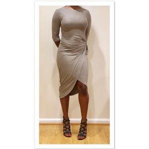 Dresses & Skirts - Asymmetrical Faux Wrap Dress